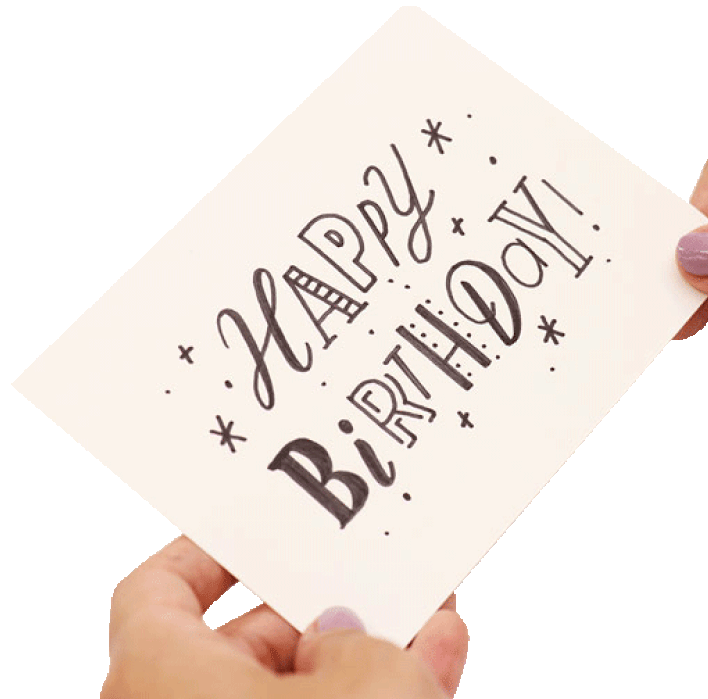 Lettering image card